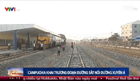 Đường sắt Campuchia – Tuyến vận tải hàng hóa quan trọng Phnom Penh và các tỉnh phía tây Campuchia