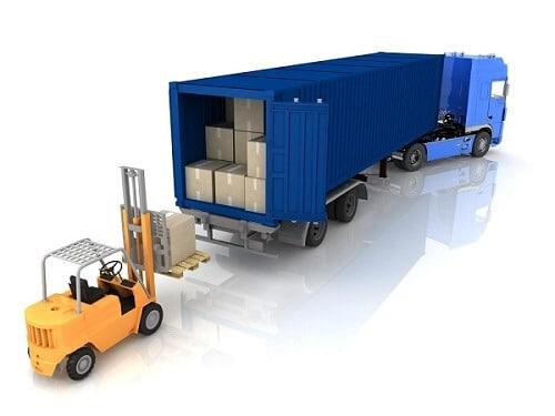 xep hang len container